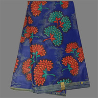 african batik fabrics - Amazing pattern royal blue with printed African batik real wax fabric for party dress WF544 yards