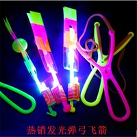 arrow space - LED Arrow Helicopter LED Amazing Arrow Flying Helicopter Umbrella parachute Kids Toys Space UFO LED Light Christmas Halloween