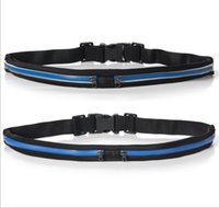 Wholesale reflective fashion running waistpacks outdoor sport man woman unisex running bags two waist belt bags