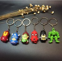 Wholesale Marvel The Avengers Keychain Superheroes Keyrings Captain America Iron Man Spiderman Hulk Key Chains Key Rings Cartoon Keychains