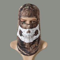 Wholesale Glow In TheDark CamouflageCS Balaclava Tactical Airsoft Hunting Fishing Paintball MotorcycleSkiCycling Protection Full Face Mask