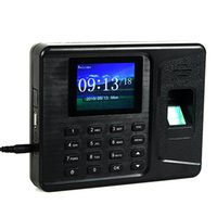 attendance punching machine - Biometric Fingerprint Time Clock Recorder Recording Attendance Employee Digital Machine Electronic Standalone Punch Reader Time Clock F6153A
