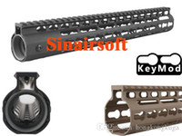ar piece - Free Float NSR quot Handguard One piece Top Rail System KeyMod High Quality Lightest BK For AR Black
