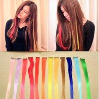 best clip on hair extensions - 2016 Best Sales Colorful Popular Colored Hair Hair Extensions Products Clip On Hair Extension s A0132