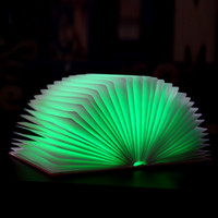 art glass book - Creative selling books page four color lamp Nightlight USB charging LED fo