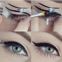 Eyebrow Tools & Stencils plastic Stencils LANBENA 2 style Fashion Eyeliner Template Eyeliner Card Eyeliner Stencil Eye Makeup Set Makeup Brushes Tools Eye Liner