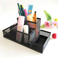 Wholesale pen holder organizer for pens pen stand crystal pot crayon bureau pencil holders