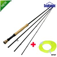Wholesale SeaKnight Carbon Fly Fishing Rods FT Bamboo Handle Sections m Trout Fly Fishing Equipment WF8F Fly Line