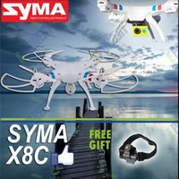 Wholesale Syma X8C Ghz Axis Gyro RC Quadcopter Drone MP HD Camera Battery EU Plug Helicopter Boy Kids Adult Toy Gift RTF BD