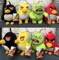 big bird movies - New Angry Bird Plush Toys CM Cartoon Stuffed Toys Angry Birds toys for kids Movie Angry Bird Figure Dolls Xmas Gift EMS free D579