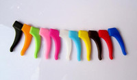 Wholesale 10 colors Quality Eyeglass Ear hook Eyewear Glasses Silicone Temple Tip Holder High quality eyeglass eyewear glasses Anti Slip silicone ear