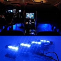 Wholesale Best Deal x LED Car Charge V Glow Interior Decorative in1 Atmosphere Blue Light Lamp