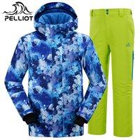Wholesale DHL Genuine Percy Men s Ski Suits Ski Jacket Pant Waterproof Windproof AndSuper Warm Outdoor Men s