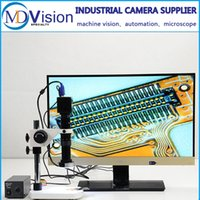 Wholesale Circuit Board Inspection Digital Industrial Microscope Camera VGA Video Output C Mount Lens LED ring Light Stand