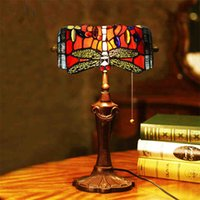art republic - Nice Bank of the Republic Tiffany Desk Light Vintage Mediterranean Blue Glass Dragonfly Table Lamp Bedroom