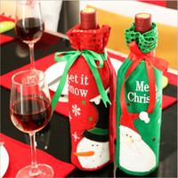 Venta al por mayor de la venta directa de la fábrica venta al por mayor de las decoraciones de la Navidad sistema de la botella de las decoraciones de la Navidad regalo del regalo del vino rojo