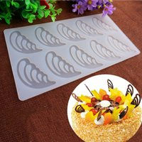 baked party wings - 10 Butterfly Wings Shape Chocolate Plugin Mould Silicone Baking Mould for Cake Decoration Bake Moulds for Parties and Celebrations White