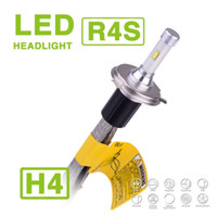 Wholesale Slim Hid Fog Lights - 1 Set H4 HB2 9003 R4S 90W 10400LM LED Headlight Super Slim Conversion Kit Hi Lo Dual Driving Fog Lamp Bulb 45W 5200LM Replace HID Halogen