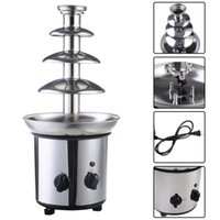 chocolate fountain - 4 Tiers Commercial Stainless Steel Hot New Luxury Chocolate Fondue Fountain New