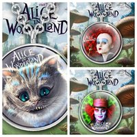 avatar heart - Alice in wonderland Pendant Necklace Cat Necklace Mad hatter cartoon avatar Jewelry Queen of Hearts Necklace Jewellery Vintage LJJK474