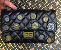 alloy beads badge - 1112 Bag CM Retro badge vintage Outer Lock Shoulder Bag Handbag Backpack