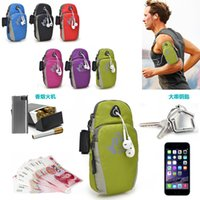 Wholesale 2016 Mobile Cell Phone Arm Band Bag Outdoor Sports Running Wrist Wallet Case Arm Fitness Package Free DHL