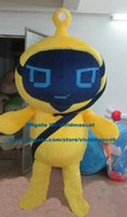alien beings - Intelligent Yellow Robot Automaton Alien Extra terrestrial Intelligent Beings Saucer Man Extraterrestria Mascot Costume ZZ1518