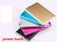 Wholesale Ultra thin slim powerbank mah power bank for mobile phone Tablet PC External battery
