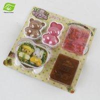 Wholesale 4pcs Set Cartoon Rice Cake Baking Mold DIY Sushi Maker Mold Onigiri Rice Ball Bento Press Maker Mold Nori Punch Cooking Tools