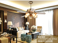 Wholesale Retro Fan ceiling light with controller Minimalism modern bedroom dining room living room ceiling lights fan LED Inventer inch