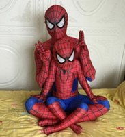 best halloween costumes kids - 2016 Spiderman costume mascot spiderman suit kids lycra spider man child and adult spider man halloween costumes Best quality