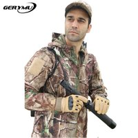 Wholesale military hunting clothes hiking jacket men outdoor windbreaker camping climbing waterproof camouflage coat plus size