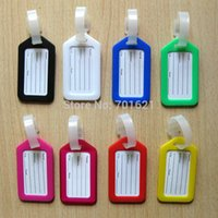 Wholesale 2016 New Fashion Plastic Travel Luggage Tags For Sale Portable Colorful Luggage Labels With Low Price