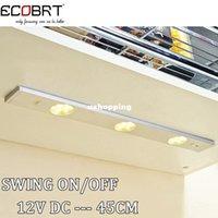 Wholesale Modern cm long Aluminum Linear V LED Bar Light IR Sensor Under Kitchen Cabinet Lighting fixtures Swing On Off Switch