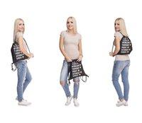 Wholesale Emoji Smiley Shopping Bags D digital Printing Backpacker Drawstring Bags Christmas Gifts Via FedEx ship