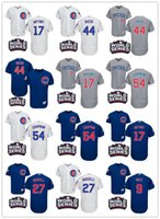 Wholesale 2016 World Series Chicago Cubs newcomer Javier Baez Kris Bryant Anthony Rizzo Javier Baez Chapman Russell Baseball Jerseys
