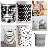 beverage basket - Ins Storage Baskets Bins Kids Room Toys Storage Bags Bucket Clothing Organizer Laundry Bag Canvas Organizer Batman Polka Dot Laundry KKA657