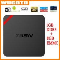 Wholesale T95N Mini MX Amlogic S905 Android TV BOX Kodi Android Quad Core K VS MXQ S805 S905 M8S Mini M8S Q BOX Set Top Box