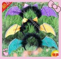 bat ears headband - Event Party Supplies halloween activities props hairpin accessories toys for children Cosplay bat ears Headband