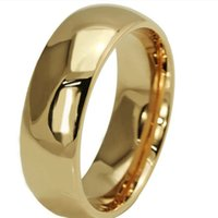 Wholesale HOT K gold filled rings for men and women wedding and engagement ring stainless steel alianca