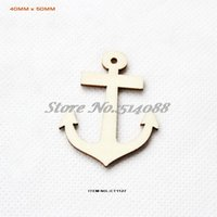 anchor cutouts - mmx mm Blank Natural Anchor Wood Necklace Cutout Crafts tags quot CT1127