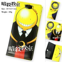 animation classroom - NEW Assassination Classroom Animation leather Cartoon Zipper Hasp bag purse long wallet children gift
