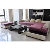 Wholesale Stylish Anti Skid Sofa Cove Cushion Elastic Plush Slipcover Solid Color Sofa Couch Cover for Home Furniture Protector JC0246