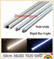 aluminum flashlight profile - YON New arrival SMD super bright led rigid bar light cm LED Light strip with aluminum profile pc cover lighting tube