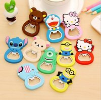 Wholesale Cartoon Bottle Openers Mixed Designs Cute D Beer Opener x4 cm with Fridge Magnet Wedding Party Favors Christmas Gift