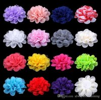 Wholesale cm Colors DIY Chiffon Mesh Sweet Flower Girl Baby Hair Infant Hairband Handmade Rosettes Headband Accessory T5099