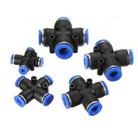 Wholesale Blue mm mm mm mm mm Pneumatic Way X Connector Push In Fittings For Air Water Tube Excellent Quality