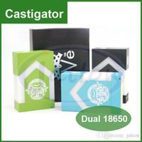 Castigador Delrin Mod parallèle double 18650 Batterie mécanique Box Mod 510 Discussion ajustement 22mm expédition RDA RBA atomiseurs DHL gratuit