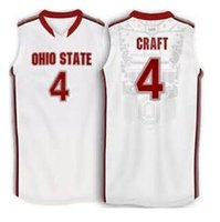 aaron craft - Aaron Craft Ohio State Buckeyes basketball Jerseys white red Embroidery Stitched Personalized Custom any size and name Jersey