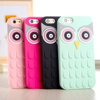 Wholesale New Arrival D Cute Cartoon OWL Soft Silicon Rubber Phone Case Cover For Apple iPhone Plus S Plus